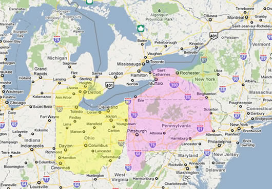 Map Of New York Ohio Area.Map Of New York Ohio Area Twitterleesclub